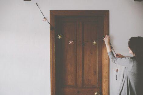 preserving christmas star garland