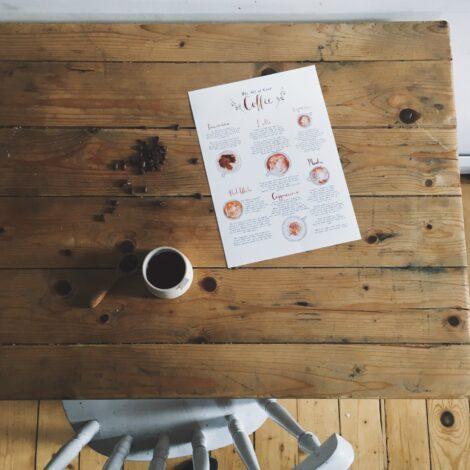 coffee print by Wildflower Illustration