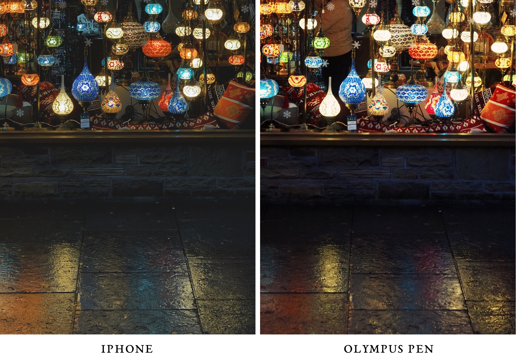 lantern window - photo olympus PEN and iPhone comparison